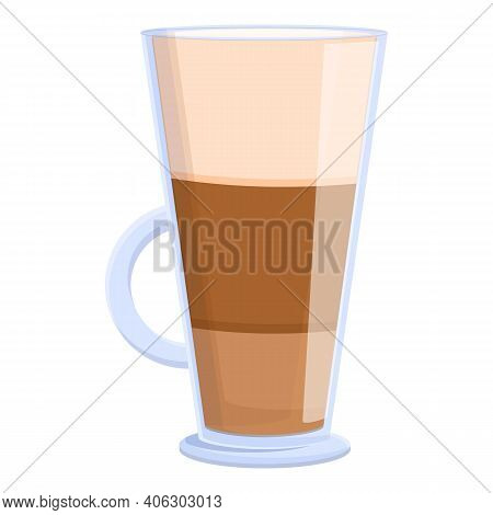 Latte Breakfast Icon. Cartoon Of Latte Breakfast Vector Icon For Web Design Isolated On White Backgr