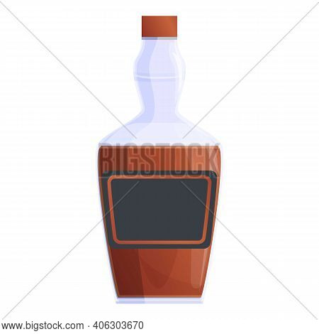 Bourbon Scotch Bottle Icon. Cartoon Of Bourbon Scotch Bottle Vector Icon For Web Design Isolated On
