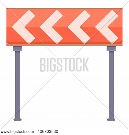 Highway Construction Road Curbe Icon. Cartoon Of Highway Construction Road Curbe Vector Icon For Web