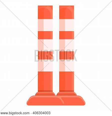 Road Barrier Pillar Icon. Cartoon Of Road Barrier Pillar Vector Icon For Web Design Isolated On Whit