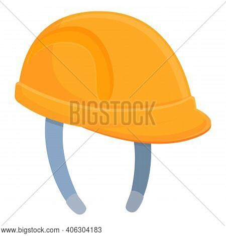 Highway Construction Helmet Icon. Cartoon Of Highway Construction Helmet Vector Icon For Web Design