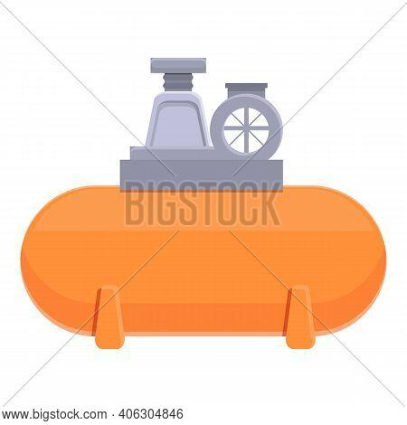 Pressure Compressor Icon. Cartoon Of Pressure Compressor Vector Icon For Web Design Isolated On Whit