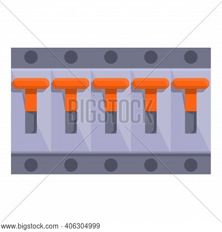 Cable Breaker Switch Icon. Cartoon Of Cable Breaker Switch Vector Icon For Web Design Isolated On Wh