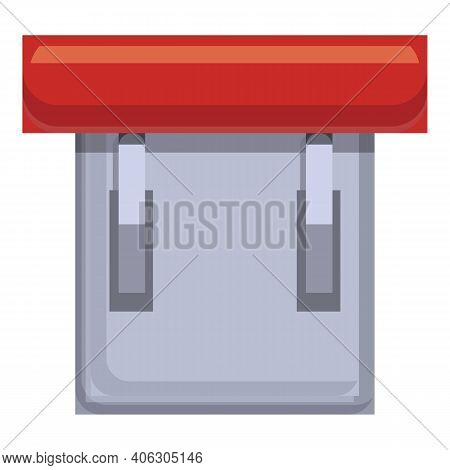 Red Breaker Switch Icon. Cartoon Of Red Breaker Switch Vector Icon For Web Design Isolated On White