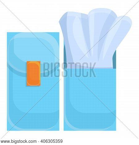 Tissue Poket Icon. Cartoon Of Tissue Poket Vector Icon For Web Design Isolated On White Background