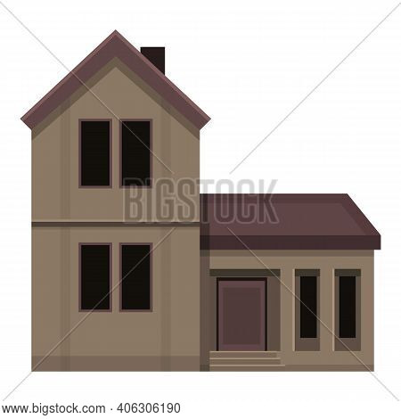 Scary Creepy House Icon. Cartoon Of Scary Creepy House Vector Icon For Web Design Isolated On White