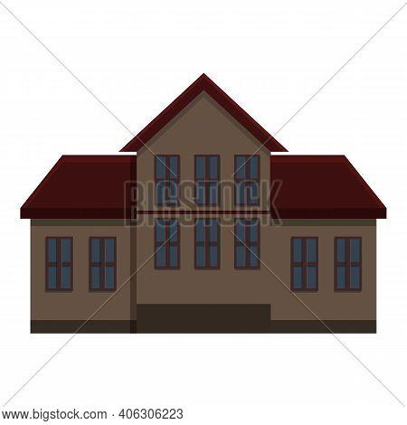 Halloween Creepy House Icon. Cartoon Of Halloween Creepy House Vector Icon For Web Design Isolated O