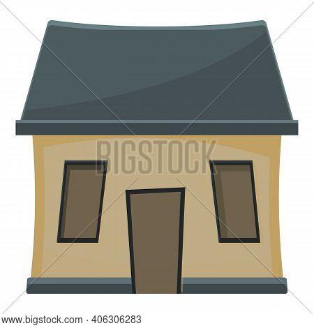 Facade Creepy House Icon. Cartoon Of Facade Creepy House Vector Icon For Web Design Isolated On Whit