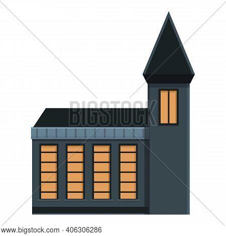 Dear Creepy House Icon. Cartoon Of Dear Creepy House Vector Icon For Web Design Isolated On White Ba