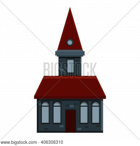 Holiday Creepy House Icon. Cartoon Of Holiday Creepy House Vector Icon For Web Design Isolated On Wh