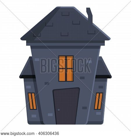 Trick Creepy House Icon. Cartoon Of Trick Creepy House Vector Icon For Web Design Isolated On White
