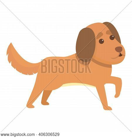 Playful Dog Character Icon. Cartoon Of Playful Dog Character Vector Icon For Web Design Isolated On