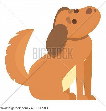 Playful Dog Waiting Man Icon. Cartoon Of Playful Dog Waiting Man Vector Icon For Web Design Isolated