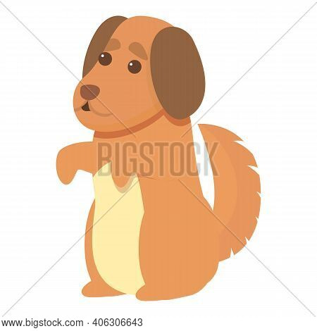 Playful Dog Ready Icon. Cartoon Of Playful Dog Ready Vector Icon For Web Design Isolated On White Ba