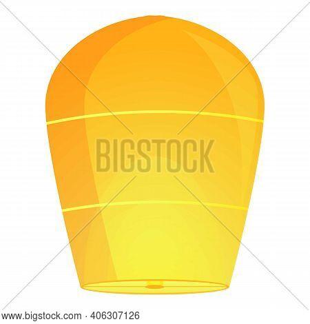 Asia Floating Lantern Icon. Cartoon Of Asia Floating Lantern Vector Icon For Web Design Isolated On