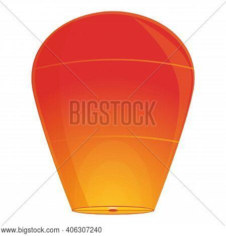Attraction Floating Lantern Icon. Cartoon Of Attraction Floating Lantern Vector Icon For Web Design