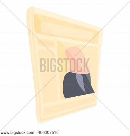 Journal Newspaper Icon. Cartoon Of Journal Newspaper Vector Icon For Web Design Isolated On White Ba
