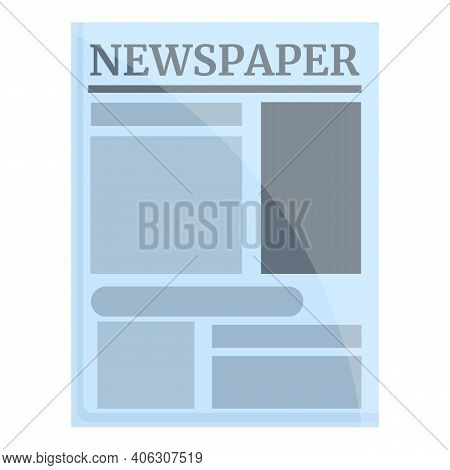 Business Newspaper Icon. Cartoon Of Business Newspaper Vector Icon For Web Design Isolated On White