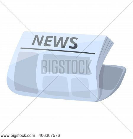 Publication Newspaper Icon. Cartoon Of Publication Newspaper Vector Icon For Web Design Isolated On