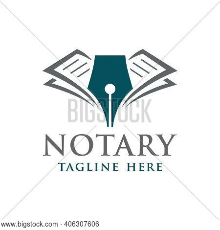 Modern Notary Or Law Firm Logo Design