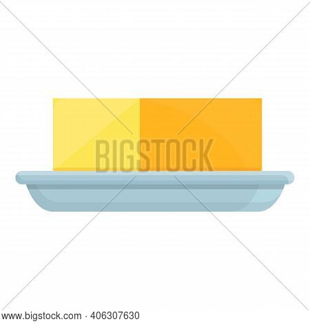 Dairy Butter Icon. Cartoon Of Dairy Butter Vector Icon For Web Design Isolated On White Background