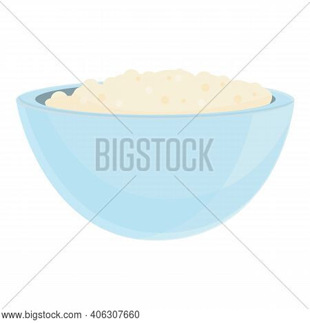 Dairy Bowl Icon. Cartoon Of Dairy Bowl Vector Icon For Web Design Isolated On White Background