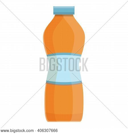 Dairy Plastic Bottle Icon. Cartoon Of Dairy Plastic Bottle Vector Icon For Web Design Isolated On Wh
