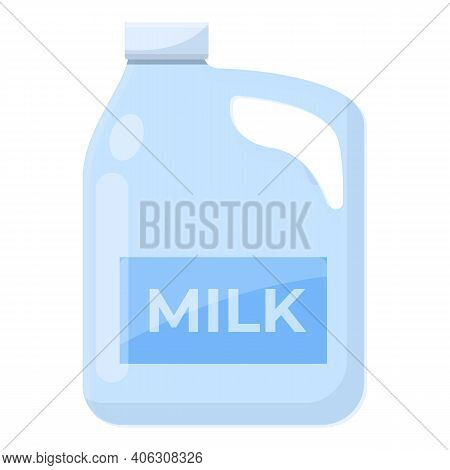 Milk Canister Icon. Cartoon Of Milk Canister Vector Icon For Web Design Isolated On White Background