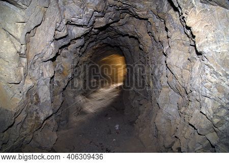 Mine Gallery Or Mine Tunnel