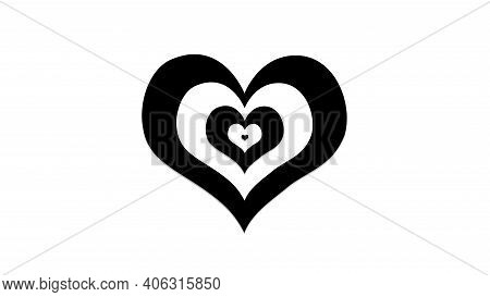 Beautiful Black And White Hearts Combination, Sign And Symbol Of Love , Show Your Love For Valentine