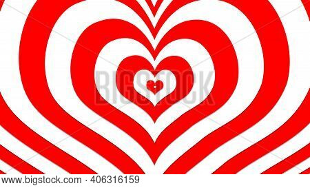 Red Heart With Dynamic Effects, Sign And Symbol Of Love , Show Your Love For Valentine's, Wedding, A