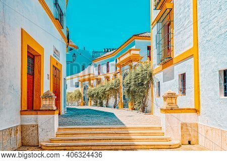 Outdoor View Of Arena On Of Square Of Bulls Royal Maestranza Of