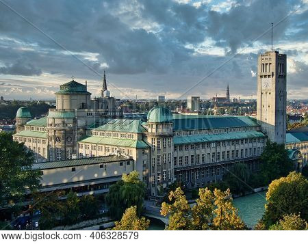 German Museum Or Deutsches Museum In Munich, Germany, The World's Largest Museum Of Science And Tech