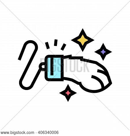 Rabbit Paw Luck Lotto Color Icon Vector. Rabbit Paw Luck Lotto Sign. Isolated Symbol Illustration