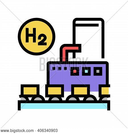 Use In Food Industry Hydrogen Color Icon Vector. Use In Food Industry Hydrogen Sign. Isolated Symbol