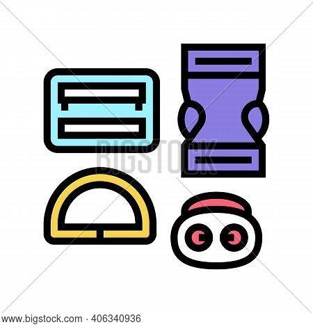 Buckles Clothes Accessories Color Icon Vector. Buckles Clothes Accessories Sign. Isolated Symbol Ill