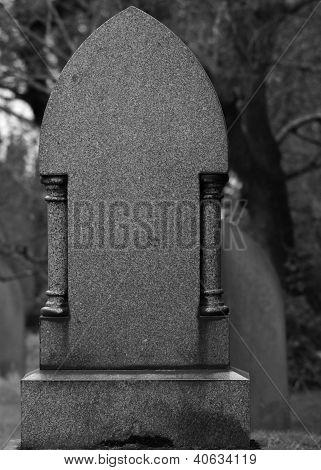 Blank Granite Tombstone