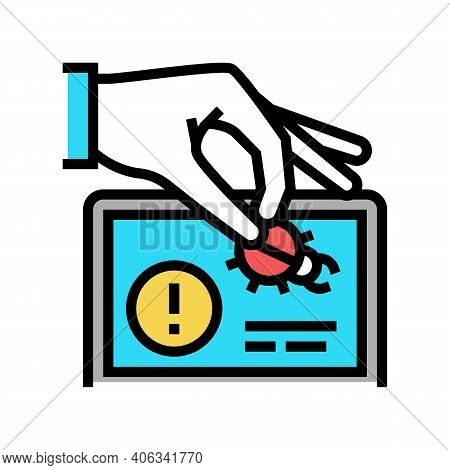 Debug Fixing Color Icon Vector. Debug Fixing Sign. Isolated Symbol Illustration