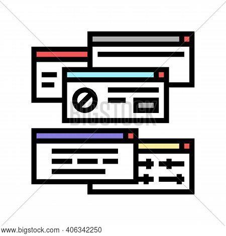 Computer Customization Color Icon Vector. Computer Customization Sign. Isolated Symbol Illustration