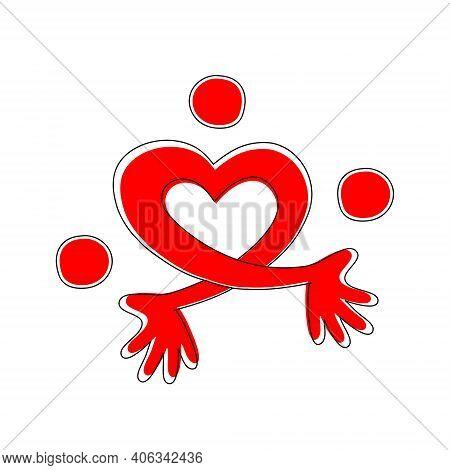Heart Juggler. Hands In The Shape Of A Heart Juggling