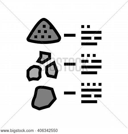 Characteristics Of Stone Color Icon Vector. Characteristics Of Stone Sign. Isolated Symbol Illustrat