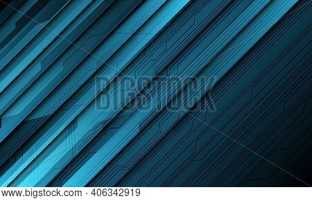 Abstract Blue Technology Cyber Circuit Line Shadow Slash Design Modern Futuristic Background Vector