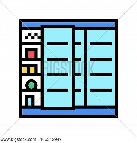 Fridge Food Shop Color Icon Vector. Fridge Food Shop Sign. Isolated Symbol Illustration
