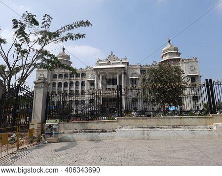 Beautiful Vikasa Soudha And Suvarna Vidhana Soudha, Government Of Karnataka, In Style Described As M