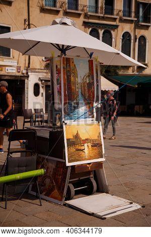 Venice, Italy, September 2020: Streets Of Venice Venice Artists