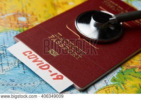 Coronavirus Pandemic Travel Concept. Covid-19 Medical Test