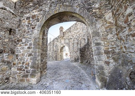 Double Gates Leading To Town Of Marvao, Alentejo, Portugal