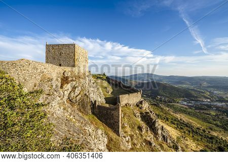 Amazing Castle On Top Of The Rock In Marvao, Alentejo, Portugal