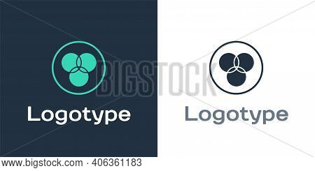 Logotype Rgb And Cmyk Color Mixing Icon Isolated On White Background. Logo Design Template Element.