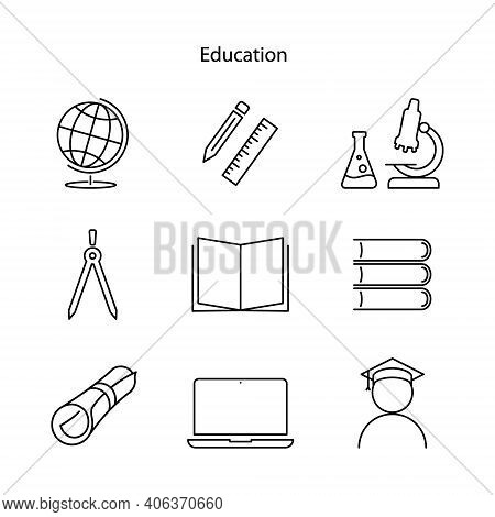 Education Icon Isolated On White Background. Education Icon Trendy And Modern Education Symbol For L